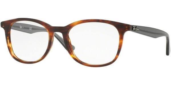 Dioptrické brýle Ray-Ban® model 5356, barva obruby hnědá lesk, stranice šedá čirá lesk, kód barevné varianty 5607.