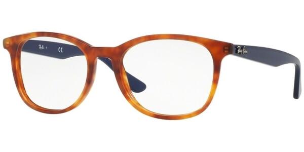 Dioptrické brýle Ray-Ban® model 5356, barva obruby hnědá lesk, stranice modrá lesk, kód barevné varianty 5609.