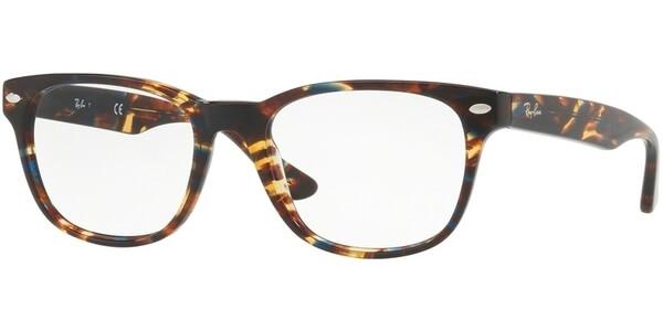 Dioptrické brýle Ray-Ban® model 5359, barva obruby hnědá modrá lesk, stranice hnědá modrá lesk, kód barevné varianty 5711.