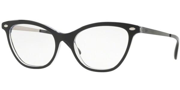 Dioptrické brýle Ray-Ban® model 5360, barva obruby černá čirá lesk, stranice černá lesk, kód barevné varianty 2034.