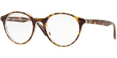 Dioptrické brýle Ray-Ban® model 5361, barva obruby hnědá čirá lesk, stranice hnědá čirá lesk, kód barevné varianty 5082.
