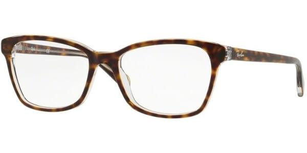 Dioptrické brýle Ray-Ban® model 5362, barva obruby hnědá čirá lesk, stranice hnědá čirá lesk, kód barevné varianty 5082.