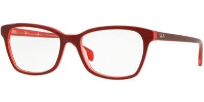 Dioptrické brýle Ray-Ban® model 5362, barva obruby červená lesk, stranice červená lesk, kód barevné varianty 5777.