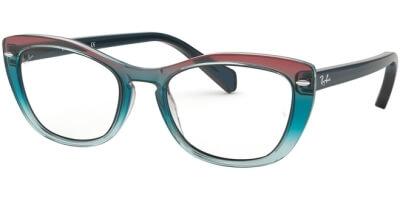 Dioptrické brýle Ray-Ban® model 5366, barva obruby modrá červená lesk, stranice modrá lesk, kód barevné varianty 5834.