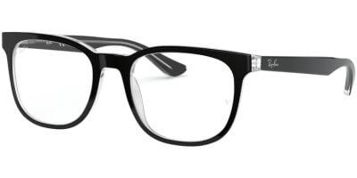 Dioptrické brýle Ray-Ban® model 5369, barva obruby černá čirá lesk, stranice černá čirá lesk, kód barevné varianty 2034.