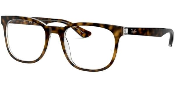 Dioptrické brýle Ray-Ban® model 5369, barva obruby hnědá čirá lesk, stranice hnědá čirá lesk, kód barevné varianty 5082.