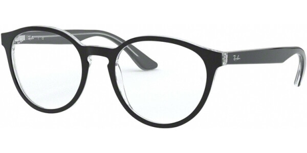 Dioptrické brýle Ray-Ban® model 5380, barva obruby černá čirá lesk, stranice černá čirá lesk, kód barevné varianty 2034.