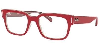 Dioptrické brýle Ray-Ban® model 5388, barva obruby červená čirá lesk, stranice červená čirá lesk, kód barevné varianty 5987.