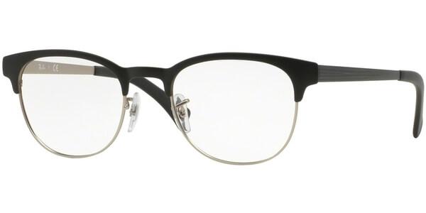 Dioptrické brýle Ray-Ban® model 6317, barva obruby černá stříbrná mat, stranice černá mat, kód barevné varianty 2832.