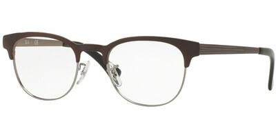 Dioptrické brýle Ray-Ban® model 6317, barva obruby hnědá mat, stranice hnědá mat, kód barevné varianty 2862.