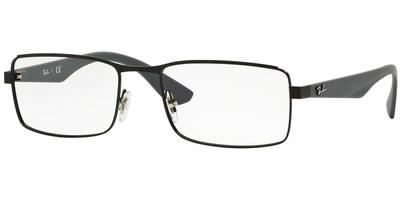 Dioptrické brýle Ray-Ban® model 6332, barva obruby černá mat, stranice šedá mat, kód barevné varianty 2822.