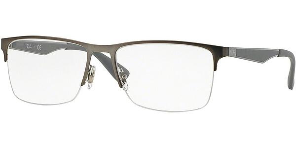 Dioptrické brýle Ray-Ban® model 6335, barva obruby stříbrná mat, stranice stříbrná šedá mat, kód barevné varianty 2855.