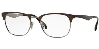 Dioptrické brýle Ray-Ban® model 6346, barva obruby hnědá stříbrná lesk, stranice hnědá lesk, kód barevné varianty 2862.