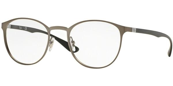 Dioptrické brýle Ray-Ban® model 6355, barva obruby stříbrná hnědá mat, stranice černá mat, kód barevné varianty 2620.