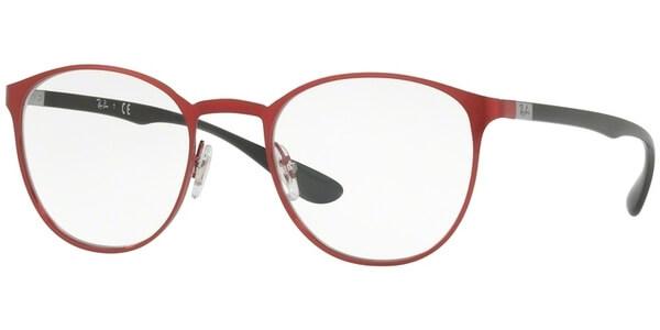 Dioptrické brýle Ray-Ban® model 6355, barva obruby vínová lesk, stranice černá lesk, kód barevné varianty 2922.
