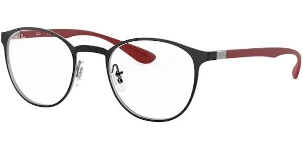 Dioptrické brýle Ray-Ban® model 6355, barva obruby černá stříbrná mat, stranice červená mat, kód barevné varianty 2997.