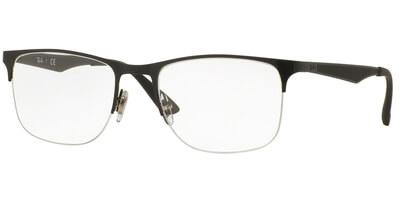 Dioptrické brýle Ray-Ban® model 6362, barva obruby černá lesk, stranice černá mat, kód barevné varianty 2509.