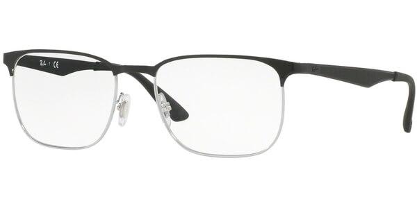 Dioptrické brýle Ray-Ban® model 6363, barva obruby černá stříbrná lesk, stranice černá mat, kód barevné varianty 2861.
