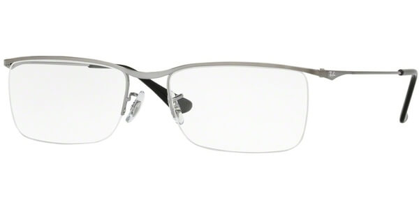Dioptrické brýle Ray-Ban® model 6370, barva obruby šedá mat, stranice šedá mat, kód barevné varianty 2502.