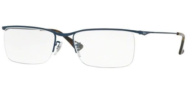 Dioptrické brýle Ray-Ban® model 6370, barva obruby modrá mat, stranice modrá hnědá mat, kód barevné varianty 2887.