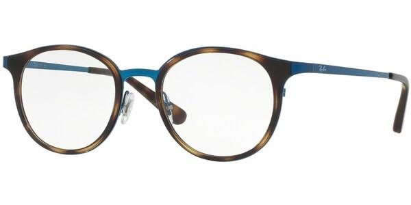 Dioptrické brýle Ray-Ban® model 6372M, barva obruby hnědá modrá lesk, stranice modrá lesk, kód barevné varianty 2924.