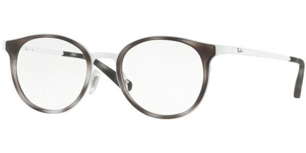 Dioptrické brýle Ray-Ban® model 6372M, barva obruby bílá hnědá mat, stranice bílá lesk, kód barevné varianty 2957.