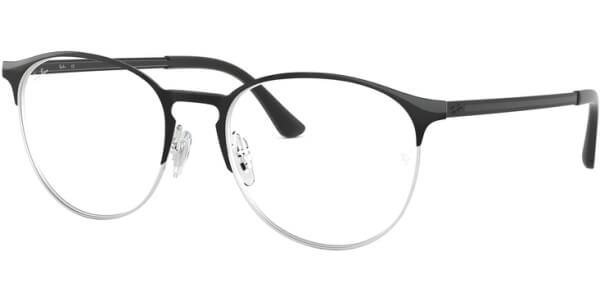Dioptrické brýle Ray-Ban® model 6375, barva obruby černá stříbrná lesk, stranice černá lesk, kód barevné varianty 2861.