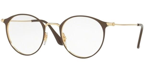 Dioptrické brýle Ray-Ban® model 6378, barva obruby hnědá zlatá lesk, stranice zlatá lesk, kód barevné varianty 2905.