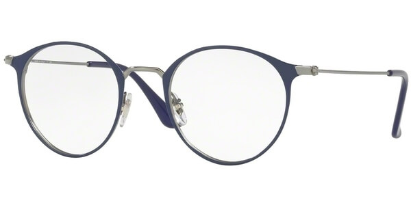 Dioptrické brýle Ray-Ban® model 6378, barva obruby modrá stříbrná lesk, stranice stříbrná lesk, kód barevné varianty 2906.