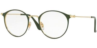Dioptrické brýle Ray-Ban® model 6378, barva obruby zelená zlatá lesk, stranice zlatá lesk, kód barevné varianty 2908.