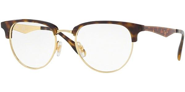 Dioptrické brýle Ray-Ban® model 6396, barva obruby hnědá zlatá lesk, stranice hnědá lesk, kód barevné varianty 2933.