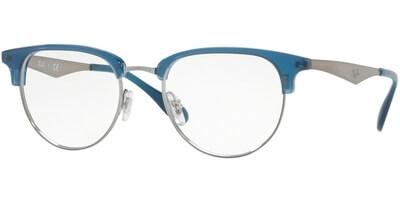 Dioptrické brýle Ray-Ban® model 6396, barva obruby tyrkysová stříbrná lesk, stranice stříbrná lesk, kód barevné varianty 2934.