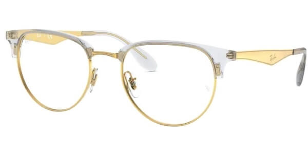 Dioptrické brýle Ray-Ban® model 6396, barva obruby čirá zlatá lesk, stranice zlatá lesk, kód barevné varianty 5762.