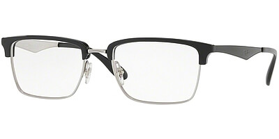 Dioptrické brýle Ray-Ban® model 6397, barva obruby černá stříbrná lesk, stranice černá lesk, kód barevné varianty 2932.