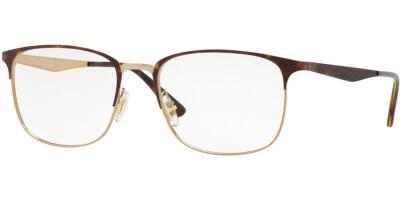 Dioptrické brýle Ray-Ban® model 6421, barva obruby hnědá zlatá lesk, stranice hnědá lesk, kód barevné varianty 3001.