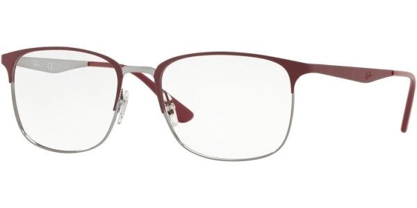Dioptrické brýle Ray-Ban® model 6421, barva obruby vínová stříbrná mat, stranice červená mat, kód barevné varianty 3003.