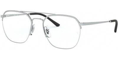 Dioptrické brýle Ray-Ban® model 6444, barva obruby stříbrná lesk, stranice stříbrná lesk, kód barevné varianty 2501.
