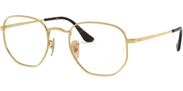 Dioptrické brýle Ray-Ban® model 6448, barva obruby zlatá lesk, stranice zlatá lesk, kód barevné varianty 2500.