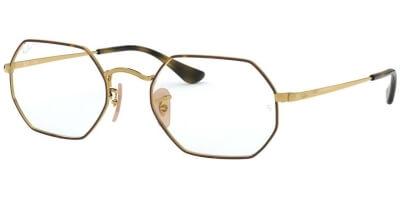 Dioptrické brýle Ray-Ban® model 6456, barva obruby hnědá zlatá lesk, stranice zlatá lesk, kód barevné varianty 2945.