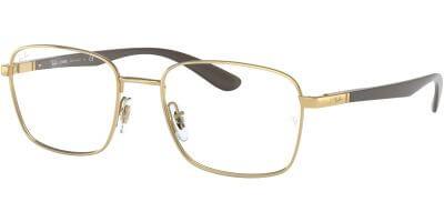 Dioptrické brýle Ray-Ban® model 6478, barva obruby zlatá lesk, stranice hnědá mat, kód barevné varianty 2500.