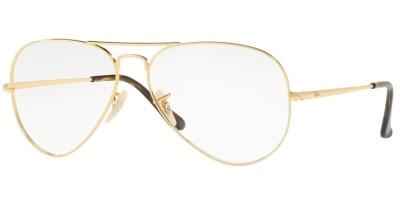 Dioptrické brýle Ray-Ban® model 6489, barva obruby zlatá lesk, stranice zlatá lesk, kód barevné varianty 2500.