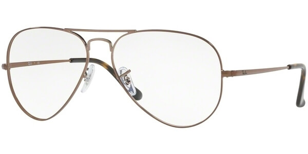 Dioptrické brýle Ray-Ban® model 6489, barva obruby bronzová lesk, stranice bronzová lesk, kód barevné varianty 2531.