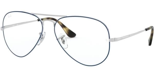 Dioptrické brýle Ray-Ban® model 6489, barva obruby modrá stříbrná lesk, stranice stříbrná lesk, kód barevné varianty 2970.
