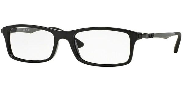 Dioptrické brýle Ray-Ban® model 7017, barva obruby černá lesk, stranice černá šedá mat, kód barevné varianty 2000.