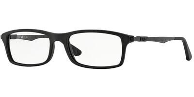 Dioptrické brýle Ray-Ban® model 7017, barva obruby čermá mat, stranice černá mat, kód barevné varianty 5196.