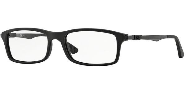 Dioptrické brýle Ray-Ban® model 7017, barva obruby černá mat, stranice černá mat, kód barevné varianty 5196.