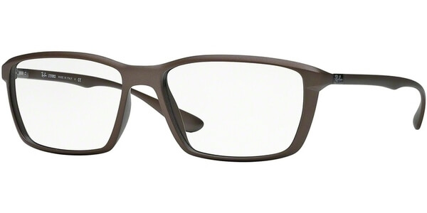 Dioptrické brýle Ray-Ban® model 7018, barva obruby hnědá mat, stranice hnědá mat, kód barevné varianty 5205.