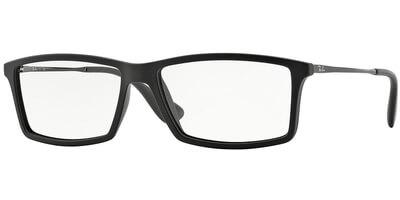 Dioptrické brýle Ray-Ban® model 7021, barva obruby černá mat, stranice stříbrná lesk, kód barevné varianty 5364.
