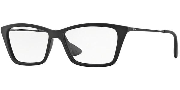Dioptrické brýle Ray-Ban® model 7022, barva obruby černá mat, stranice stříbrná lesk, kód barevné varianty 5364.