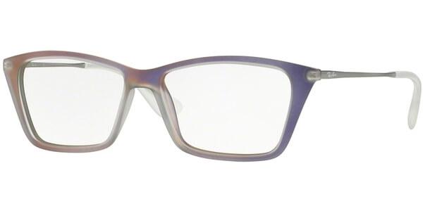 Dioptrické brýle Ray-Ban® model 7022, barva obruby fialová mat, stranice stříbrná lesk, kód barevné varianty 5498.